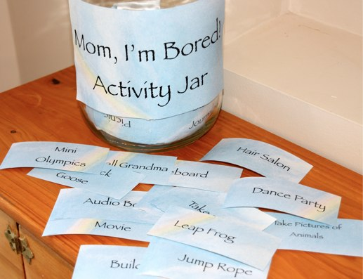 I'm bored activity cards printable